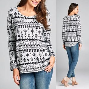 NWT Geo Print Top made in USA